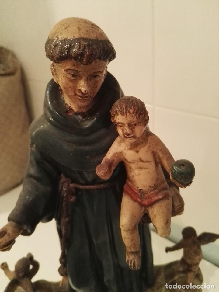 FIGURA SAN ANTONIO DE BARRO S.XVIII-XIX (Arte - Arte Religioso - Escultura)
