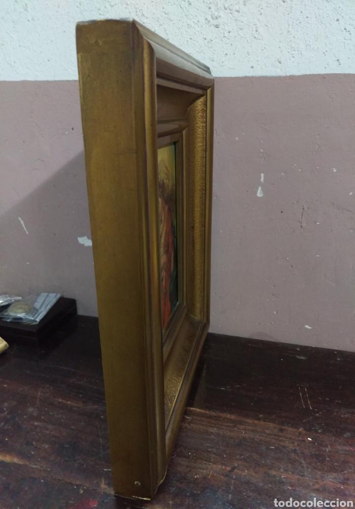 Arte: OLEO SOBRE CARTON PRIMERA MITAD S.XX MATERNIDAD VIRGEN CON NIÑO- A ESPINOSA DE LOS MONTEROS - Foto 8 - 133883630