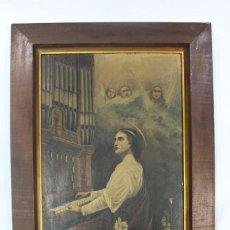 Arte: OLEO TÁBLEX PPS S XX SANTA CECILIA FIRMADO CAPMANY. Lote 133896522