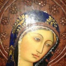 Arte: ANTIGUA PINTURA VIRGEN DOLOROSA ESTILO GOTICO SOBRE MADERA. Lote 133958637
