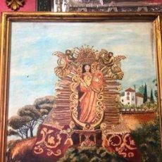 Arte: OLEO SOBRE LIENZO VIRGEN ANGELES DE ALAJAR (HUELVA) - MEDIDA 61X51 CM - RELIGIOSA. Lote 133958794