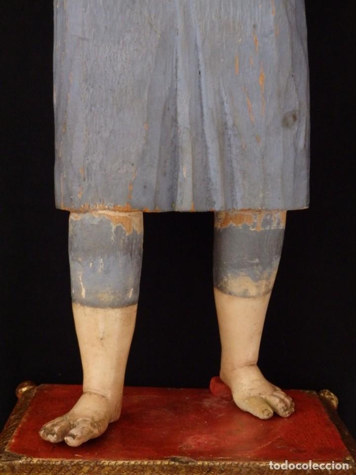 Arte: Niño Jesús. Escultura vestidera o cap i pota en madera policromada. 70 cm. Granada. S. XVIII. - Foto 7 - 134050710