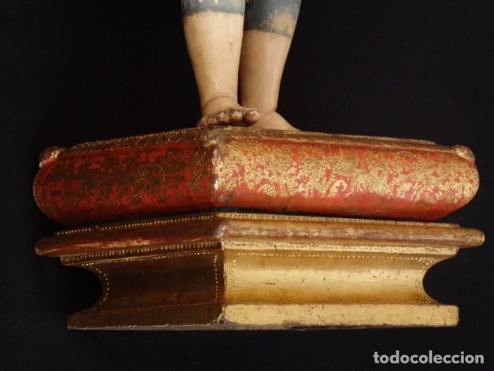 Arte: Niño Jesús. Escultura vestidera o cap i pota en madera policromada. 70 cm. Granada. S. XVIII. - Foto 9 - 134050710