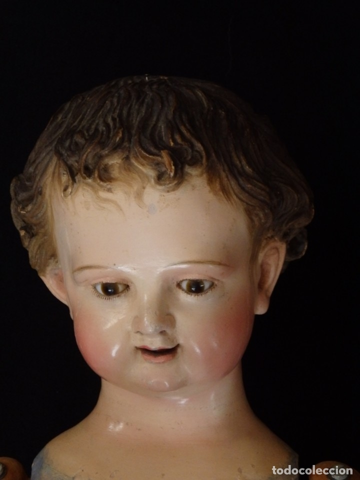 Arte: Niño Jesús. Escultura vestidera o cap i pota en madera policromada. 70 cm. Granada. S. XVIII. - Foto 13 - 134050710
