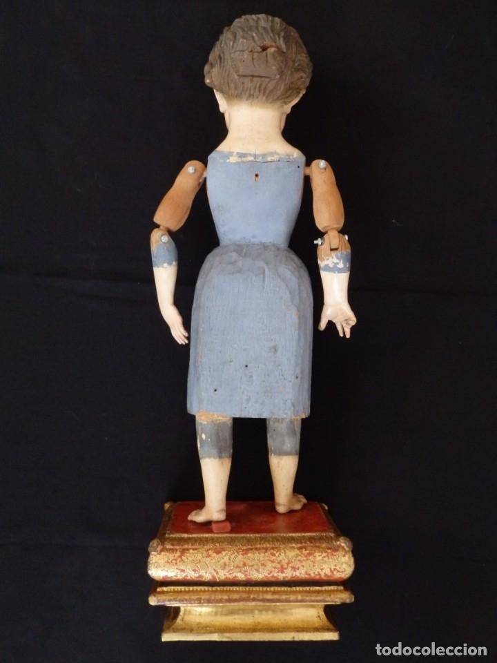 Arte: Niño Jesús. Escultura vestidera o cap i pota en madera policromada. 70 cm. Granada. S. XVIII. - Foto 21 - 134050710