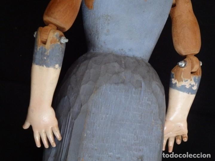 Arte: Niño Jesús. Escultura vestidera o cap i pota en madera policromada. 70 cm. Granada. S. XVIII. - Foto 23 - 134050710
