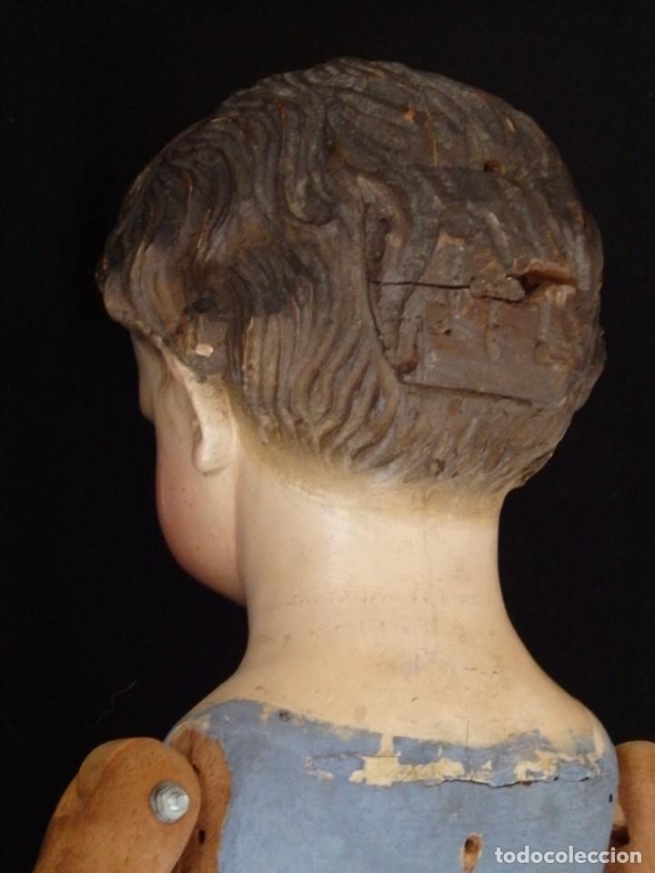 Arte: Niño Jesús. Escultura vestidera o cap i pota en madera policromada. 70 cm. Granada. S. XVIII. - Foto 24 - 134050710