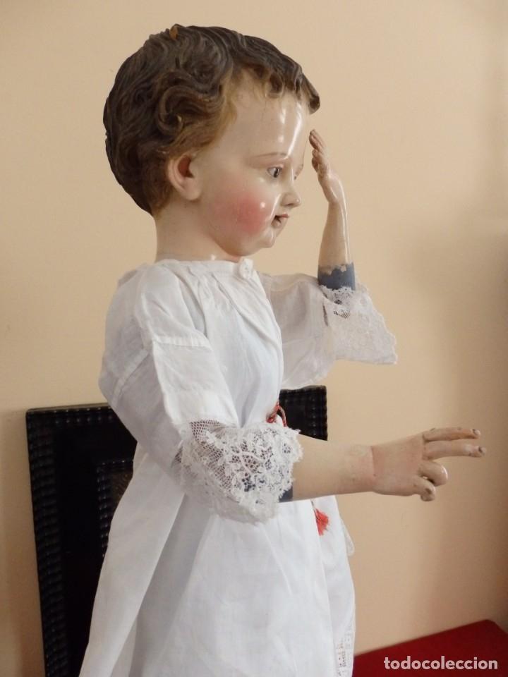 Arte: Niño Jesús. Escultura vestidera o cap i pota en madera policromada. 70 cm. Granada. S. XVIII. - Foto 25 - 134050710