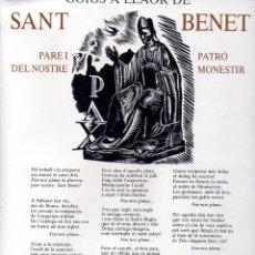 Arte: GOIGS A LLAOR DE SANT BENET DE MONTSERRAT (1983) DÍPTIC. Lote 134058174