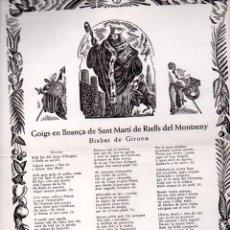Arte: GOIGS EN LLOANÇA DE SANT MARTÍ DE RIELLS DEL MONTSENY (1954). Lote 134061298