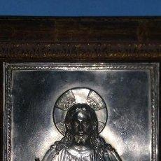 Arte: ANTIGUO CUADRO DE CORAZÓN DE JESÚS EN RELIEVE. Lote 134118498