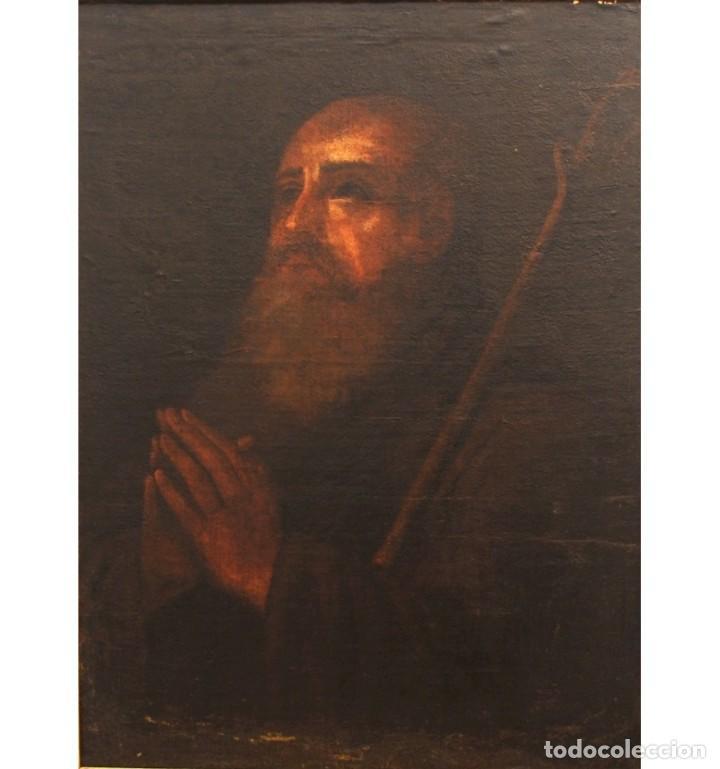 SAN ANTONIO ABAD. ESCUELA ANDALUZA DEL SIGLO XVII. (Arte - Arte Religioso - Pintura Religiosa - Oleo)