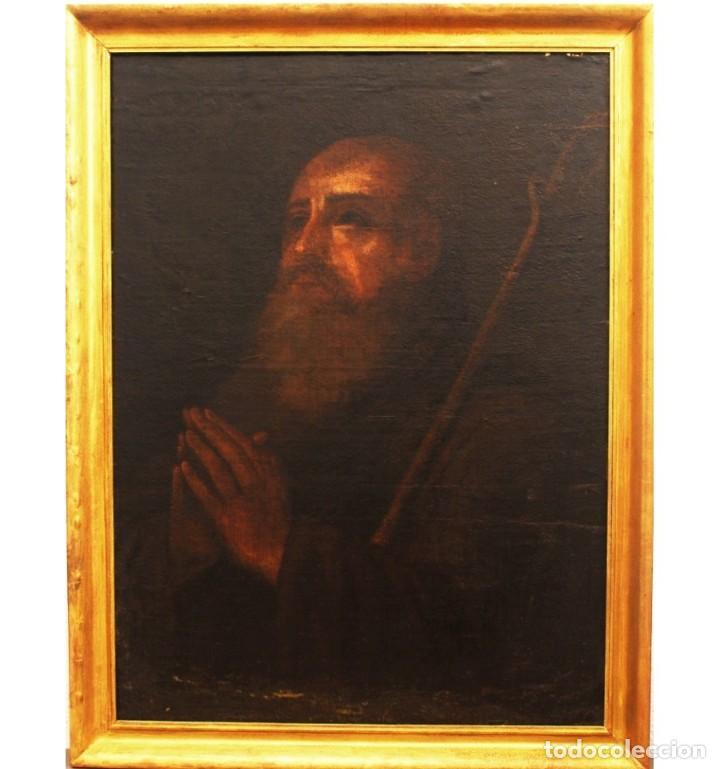 Arte: San Antonio Abad. Escuela andaluza del siglo XVII. - Foto 2 - 134160906