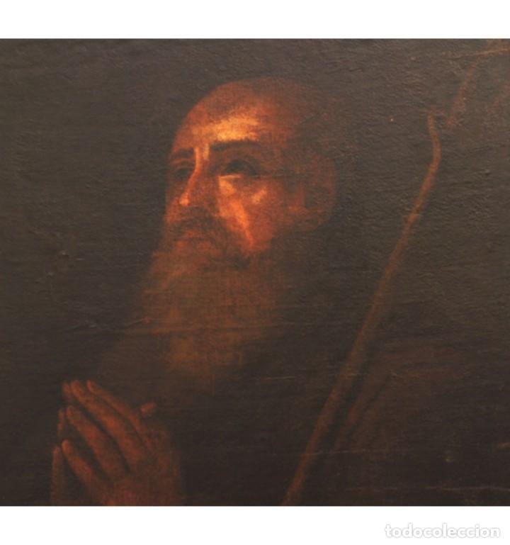 Arte: San Antonio Abad. Escuela andaluza del siglo XVII. - Foto 3 - 134160906