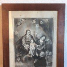 Arte: GRAN LITOGRAFÍA NUESTRA SEÑORA DE LOS VENERABLES SACERDOTES FIRMA R. ROEAFALL Y MONFORT MARCO NOGAL. Lote 134214357