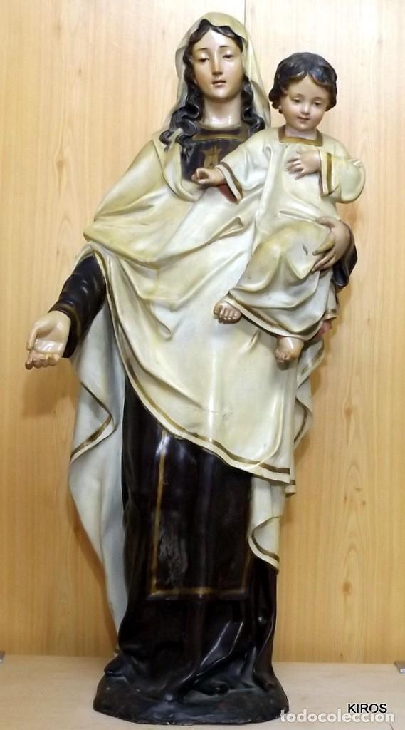 VIRGEN DEL CARMEN GRAN TAMAÑO MAGNIFICA (Arte - Arte Religioso - Escultura)