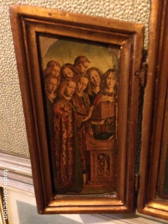 Arte: Antiguo triptico retablo 57x37cm. No es policromía. - Foto 2 - 134349102