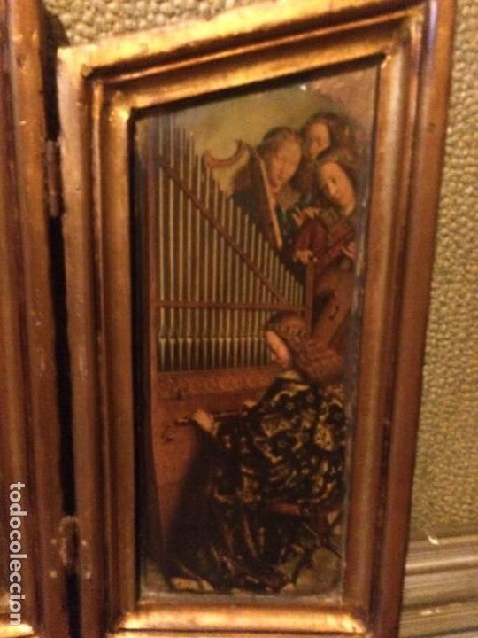 Arte: Antiguo triptico retablo 57x37cm. No es policromía. - Foto 4 - 134349102