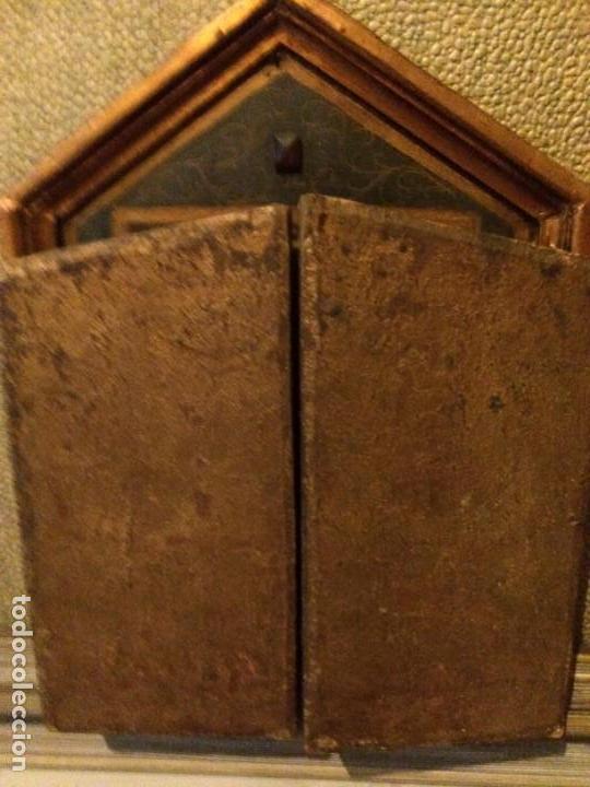 Arte: Antiguo triptico retablo 57x37cm. No es policromía. - Foto 5 - 134349102