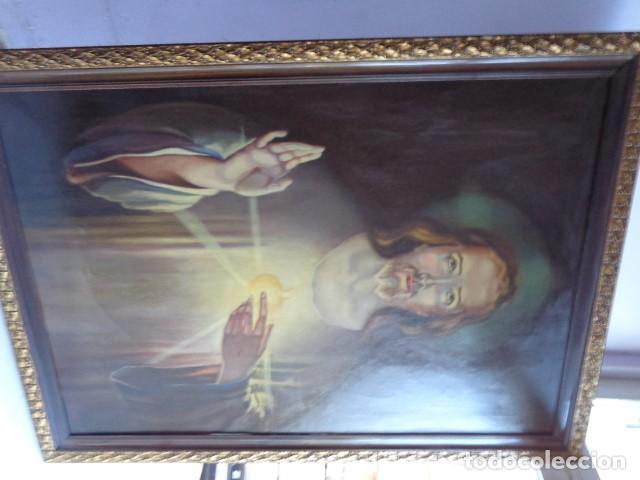 Arte: MUY ANTIGUO FINALES 1800, RARO Y BONITO CUADRO AL OLEO SOBRE LIENZO FIRMADO, ENORME Y BUEN ESTADO - Foto 2 - 134414170