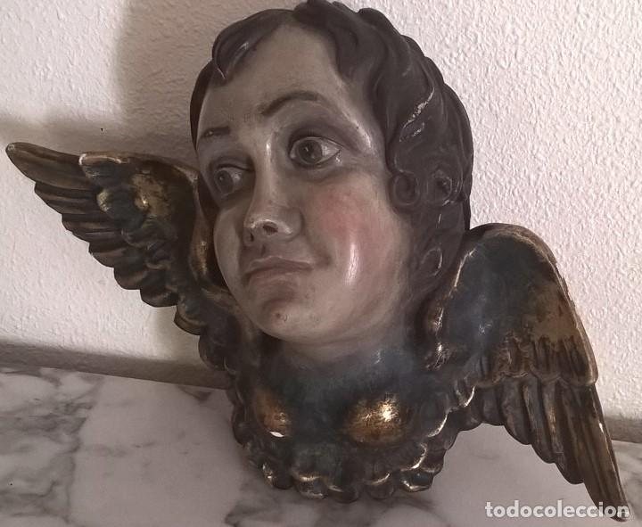 Arte: Angel talla en madera siglo XVIII - Foto 4 - 134441982