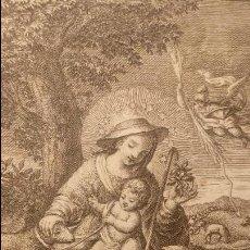 Arte: GRABADO DE LA DIVINA PASTORA MARÍA SANTÍSIMA. Lote 134610406