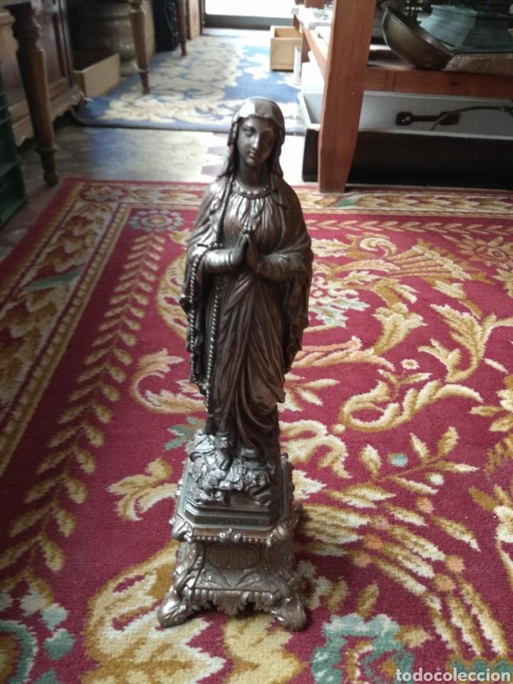 ESCULTURA VIRGEN DE LOURDES CALAMINA (Arte - Arte Religioso - Escultura)