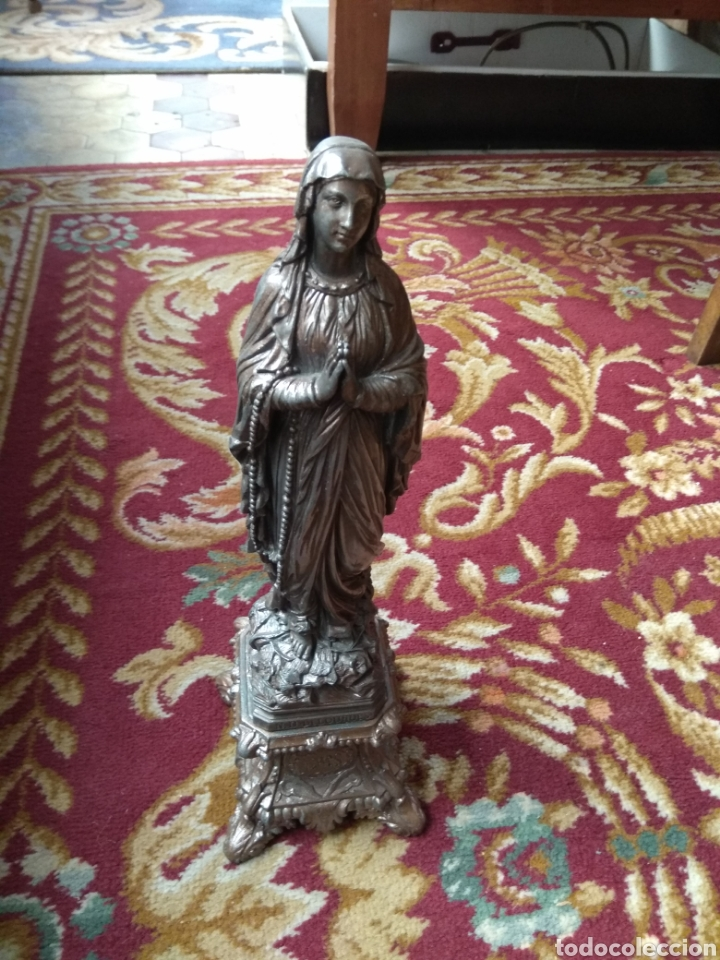 Arte: Escultura Virgen de Lourdes Calamina - Foto 3 - 134712946