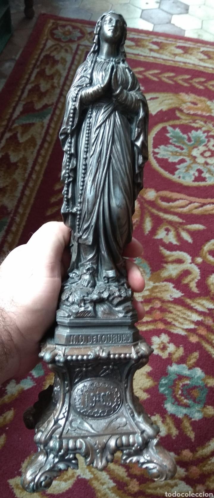 Arte: Escultura Virgen de Lourdes Calamina - Foto 15 - 134712946