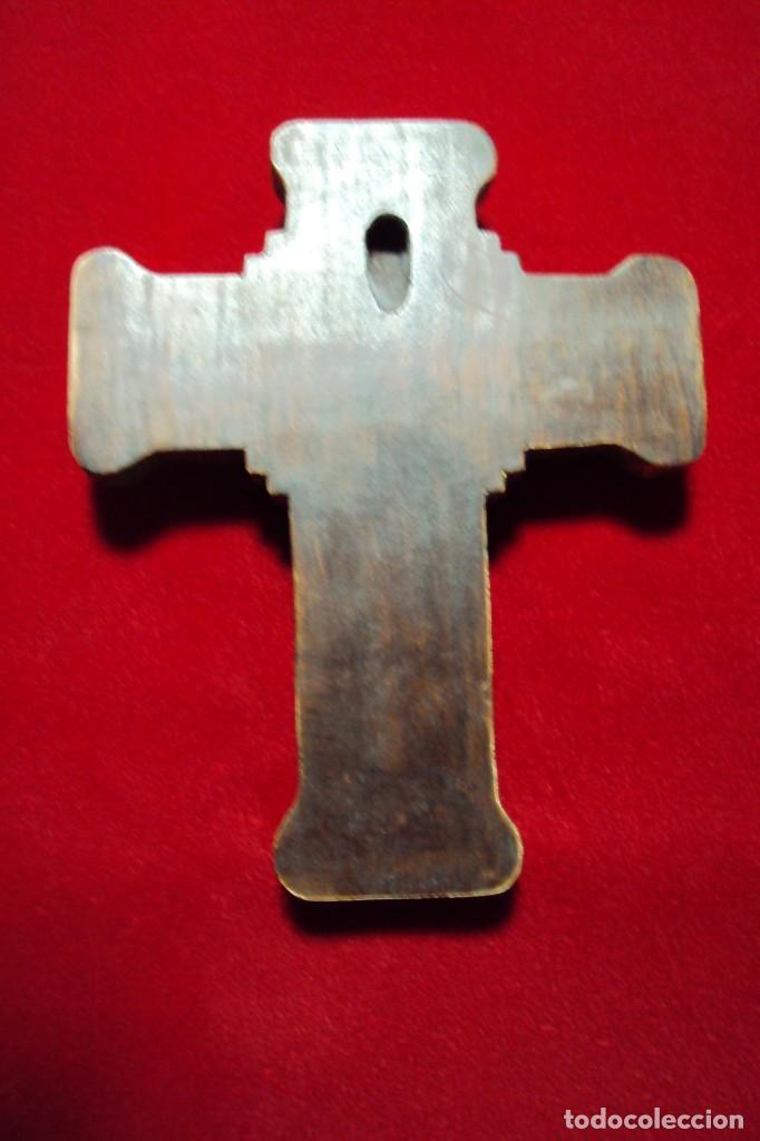 Arte: Crucifijo - Cristo estilo románico talla en hueso - Foto 5 - 134931890