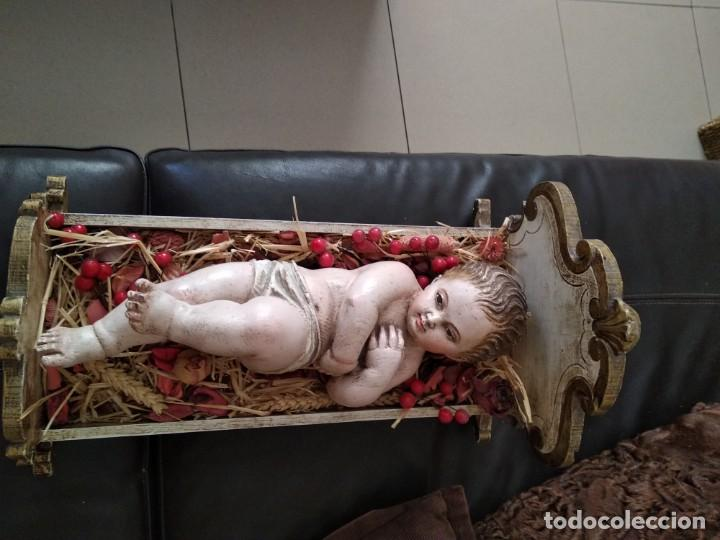 Arte: Talla madera firmada niño jesus - Foto 4 - 135021618