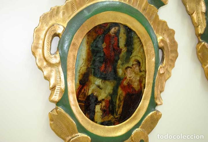 Arte: OBRAS RELIGIOSAS ANTIGUAS PINTADAS A MANO SOBRE VIDRIO - Foto 7 - 135125162