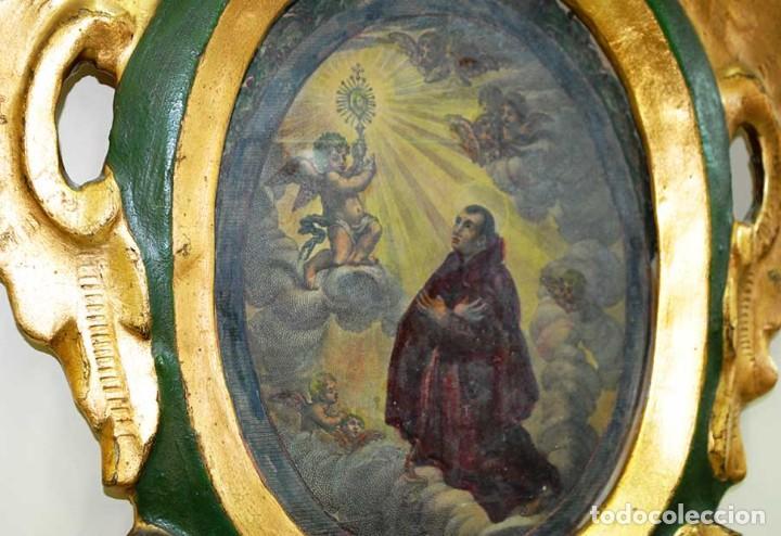 Arte: OBRAS RELIGIOSAS ANTIGUAS PINTADAS A MANO SOBRE VIDRIO - Foto 8 - 135125162