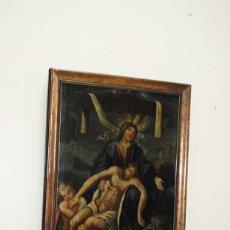 Arte: ÓLEO SOBRE LIENZO DOLOROSA Y CRISTO DE LA CARIDAD. Lote 135125362