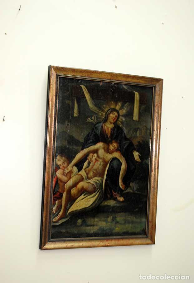 Arte: ÓLEO SOBRE LIENZO DOLOROSA Y CRISTO DE LA CARIDAD - Foto 2 - 135125362