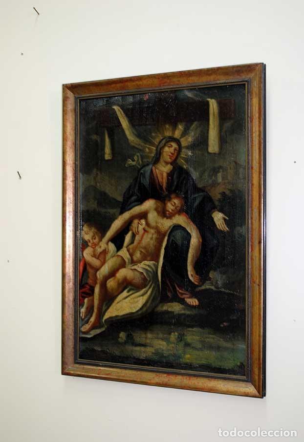 Arte: ÓLEO SOBRE LIENZO DOLOROSA Y CRISTO DE LA CARIDAD - Foto 3 - 135125362