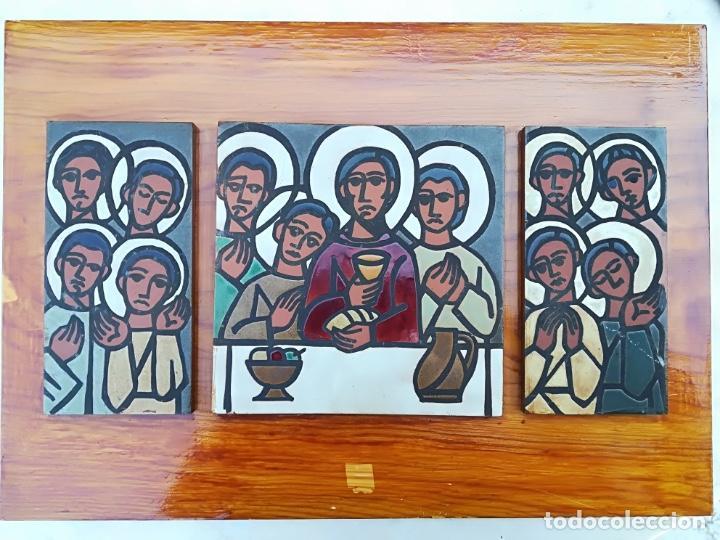 PINTURA SANTA CENA SOBRE CERÁMICA (Arte - Arte Religioso - Pintura Religiosa - Otros)