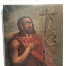 Arte: SAN JUAN BAUTISTA ÓLEO SOBRE LIENZO SIGLO XVIII. Lote 135267293