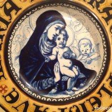Arte: PLATO RELIGIOSO CERÁMICA AVE MARÍA PLENA DE GRACIA DIÁMETRO 45CM DE ÉPOCA. Lote 135303342