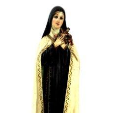Arte: SANTA TERESITA. MADERA TALLADA Y POLICROMADA. LAS ARTES RELIGIOSAS. OLOT. 1900.. Lote 135308558