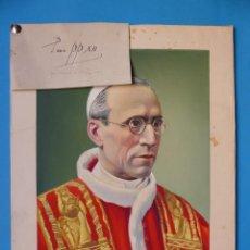 Arte: ORIGINAL PINTADO A MANO - PIUS PP XII PIO XII - AÑOS 1940 - BOCETO ORIGINAL CREADO POR LIT. ORTEGA. Lote 135331306