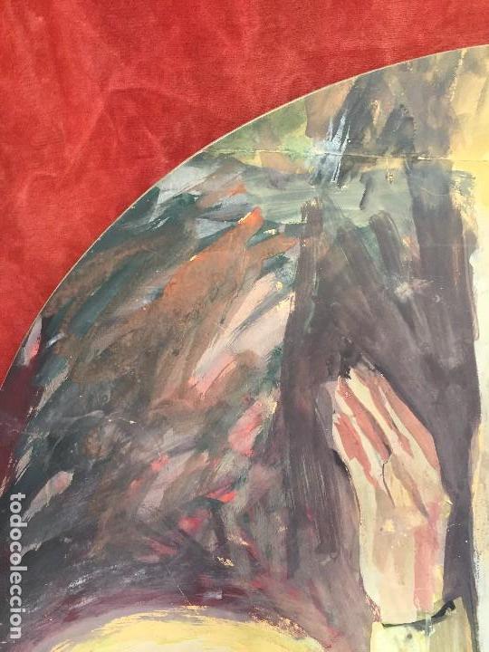 Arte: TEMPERA GOUACHE PAPEL SOBRE TABLA ANUNCIACION TRINIDAD SOTOS BAYARRI CATALUÑA CANTABRIA 88X65CMS - Foto 3 - 135694211