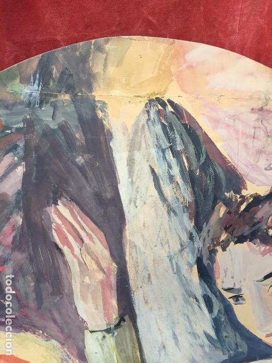Arte: TEMPERA GOUACHE PAPEL SOBRE TABLA ANUNCIACION TRINIDAD SOTOS BAYARRI CATALUÑA CANTABRIA 88X65CMS - Foto 4 - 135694211