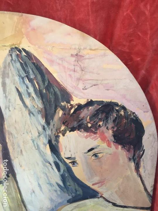 Arte: TEMPERA GOUACHE PAPEL SOBRE TABLA ANUNCIACION TRINIDAD SOTOS BAYARRI CATALUÑA CANTABRIA 88X65CMS - Foto 5 - 135694211
