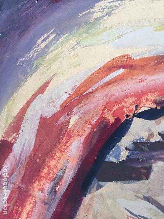 Arte: TEMPERA GOUACHE PAPEL SOBRE TABLA ANUNCIACION TRINIDAD SOTOS BAYARRI CATALUÑA CANTABRIA 88X65CMS - Foto 14 - 135694211