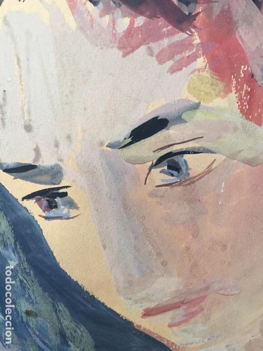 Arte: TEMPERA GOUACHE PAPEL SOBRE TABLA ANUNCIACION TRINIDAD SOTOS BAYARRI CATALUÑA CANTABRIA 88X65CMS - Foto 18 - 135694211