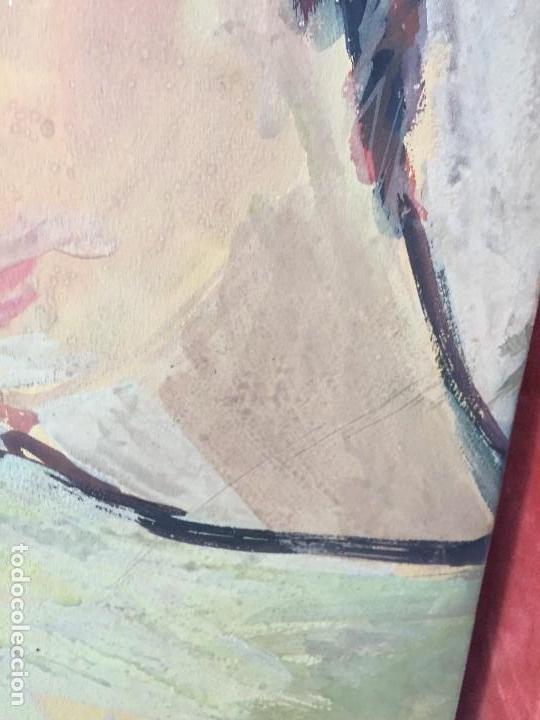 Arte: TEMPERA GOUACHE PAPEL SOBRE TABLA ANUNCIACION TRINIDAD SOTOS BAYARRI CATALUÑA CANTABRIA 88X65CMS - Foto 19 - 135694211