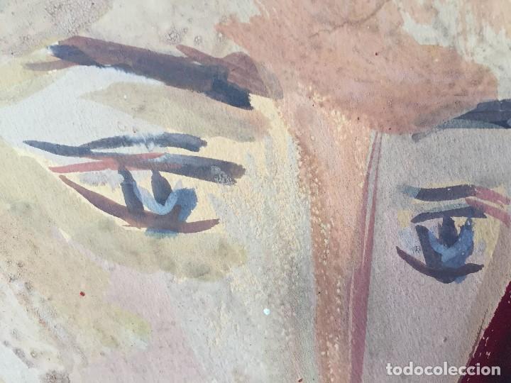 Arte: TEMPERA GOUACHE PAPEL SOBRE TABLA ANUNCIACION TRINIDAD SOTOS BAYARRI CATALUÑA CANTABRIA 88X65CMS - Foto 23 - 135694211