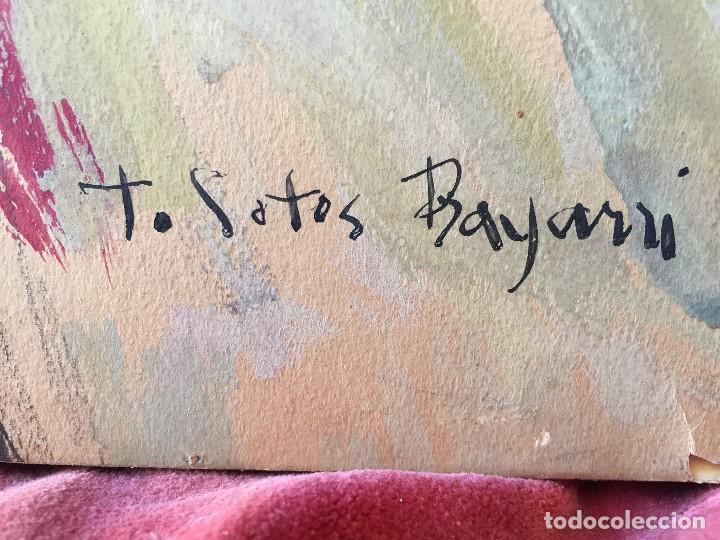 Arte: TEMPERA GOUACHE PAPEL SOBRE TABLA ANUNCIACION TRINIDAD SOTOS BAYARRI CATALUÑA CANTABRIA 88X65CMS - Foto 2 - 135694211