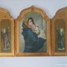 Arte: TRIPTICO O CAPILLA RELIGIOSA DE GRAN TAMAÑO. Lote 135752582
